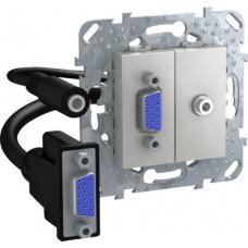 Unica TOP Алюминий HD15+Minijack-коннектор | MGU5.932.30ZD | Schneider Electric