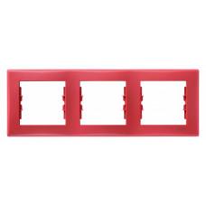 Sedna Красная Рамка 3-ая горизонтальная | SDN5800541 | Schneider Electric