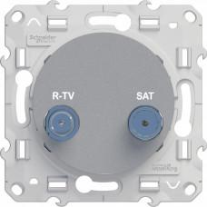 Odace Алюминий Розетка R-TV/SAT | S53R454 | Schneider Electric