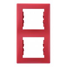Sedna Красная Рамка 2-ая вертикальная | SDN5801141 | Schneider Electric