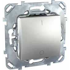 Unica TOP Алюминий Выключатель 1-клавишный 2P 16A | MGU5.262.30ZD | Schneider Electric