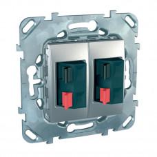 Unica TOP Алюминий Аудиорозетка 2-ая | MGU5.8787.30ZD | Schneider Electric