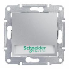 Sedna Алюминий Выключатель 1-клавишный кнопочный с полем для надписи и подсветкой 10А (сх.1) | SDN1700460 | Schneider Electric