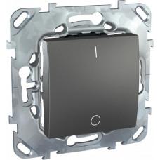 Unica TOP Графит Выключатель 1-клавишный 16A 2P | MGU5.262.12ZD | Schneider Electric