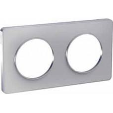 Odace Алюминий/Алюминий (пластик) Рамка 2-ая | S53P804 | Schneider Electric