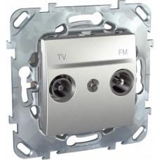 Unica TOP Алюминий Розетка TV-FM оконечная | MGU5.452.30ZD | Schneider Electric