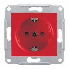 Sedna Красная Розетка с/з с защитными шторками спец. | SDN3000341 | Schneider Electric