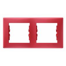 Sedna Красная Рамка 2-ая горизонтальная | SDN5800341 | Schneider Electric