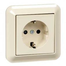 Розетка с з/к, шторки, беж | MTN2300-1244 | Schneider Electric