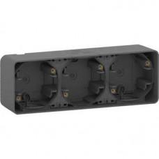 MUREVA S, 3-х ПОСТОВОЙ БОКС для накл. монтажа, АНТРАЦИТ, IP55   MUR37713   Schneider Electric