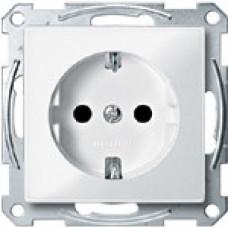 Розетка с з/к, без шторок без рамки, M-TREND, бел | MTN2301-1319 | Schneider Electric