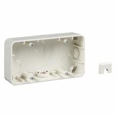 коробка для открыт монтажа, 2 поста бел. | MTN4024-1219 | Schneider Electric