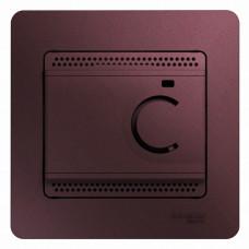 Glossa Баклажановый Термостат электронный теплого пола с датч, от +5 до +50°C, 10A (в сборе) | GSL001138 | Schneider Electric