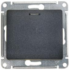 Glossa Антрацит Выключатель 1-клавишный с подсветкой сх.1а, 10AX | GSL000713 | Schneider Electric