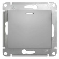 Glossa Алюминий Выключатель 1-клавишный с подсветкой, сх.1а, 10АХ   GSL000313   Schneider Electric
