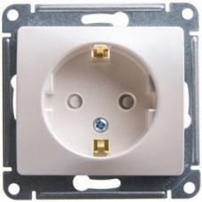 Glossa Молочный Розетка с/з со шторками | GSL000945 | Schneider Electric