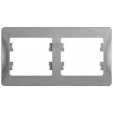 Glossa Алюминий Рамка 2-ая, горизонтальная   GSL000302   Schneider Electric