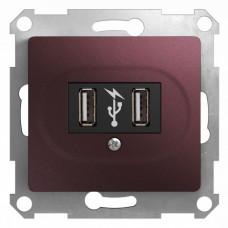 Glossa Баклажановый Розетка USB (GSL001132) | GSL001132 | Schneider Electric