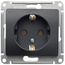 Glossa Антрацит Розетка с/з, 16А | GSL000743 | Schneider Electric