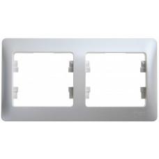 Glossa Перламутр Рамка 2-ая, горизонтальная | GSL000602 | Schneider Electric