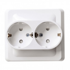 ЭТЮД С/У Белый Розетка 2-ая с/з с защитными шторками | PC16-008B | Schneider Electric