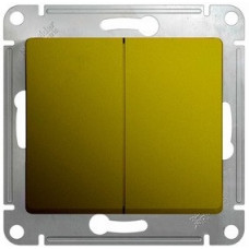 Glossa Фисташковый Выключатель 2-клавишный, сх.5, 10AX | GSL001051 | Schneider Electric