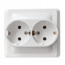 ЭТЮД С/У Белый Розетка 2-ая с/з | PC16-007B | Schneider Electric