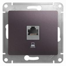 Glossa Сиреневый туман Розетка компьютерная RJ45 кат.5E | GSL001481K | Schneider Electric