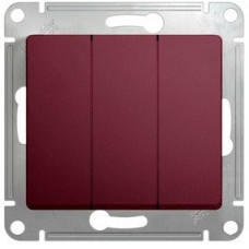 Glossa Баклажановый Выключатель 3-клавишный , сх.3, 10AX | GSL001131 | Schneider Electric