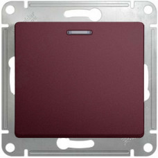Glossa Баклажановый Выключатель 1-клавишный, сх.1, 10AX | GSL001111 | Schneider Electric