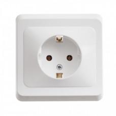 ЭТЮД С/У Белый Розетка 1-ая с/з | PC16-003B | Schneider Electric
