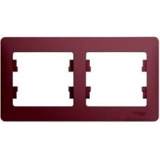 Glossa Баклажановый Рамка 2-ая, горизонтальная | GSL001102 | Schneider Electric