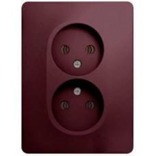 Glossa Баклажановый Розетка 2-ая б/з (в сборе) | GSL001120 | Schneider Electric
