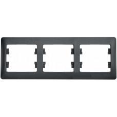Glossa Антрацит Рамка 3-ая, горизонтальная | GSL000703 | Schneider Electric