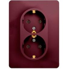 Glossa Баклажановый Розетка 2-ая с/з (в сборе) | GSL001124 | Schneider Electric