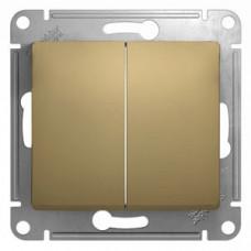 Glossa Титан Выключатель 2-клавишный, сх.5, 10АХ | GSL000451 | Schneider Electric
