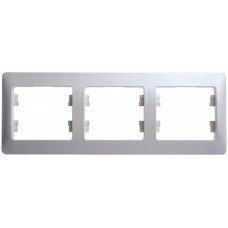Glossa Перламутр Рамка 3-ая, горизонтальная | GSL000603 | Schneider Electric