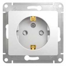 Glossa Белый Розетка с/з со шторками | GSL000145 | Schneider Electric