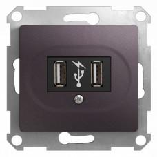 Glossa Сиреневый туман Розетка USB (GSL001432) | GSL001432 | Schneider Electric
