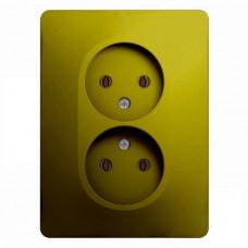 Glossa Фисташковый Розетка 2-ая б/з (в сборе) | GSL001020 | Schneider Electric