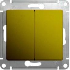 Glossa Фисташковый Переключатель 2-клавишный, сх.6,10AX | GSL001065 | Schneider Electric