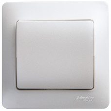 Glossa Перламутр Выключатель 1-клавишный, сх.1, 10АХ (в сборе) | GSL000612 | Schneider Electric