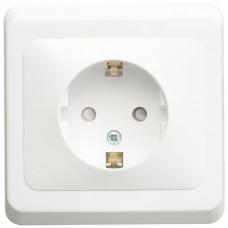 ЭТЮД С/У Белый Розетка 1-ая с/з с защитными шторками | PC16-004B | Schneider Electric