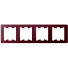 Glossa Баклажановый Рамка 4-ая, горизонтальная | GSL001104 | Schneider Electric