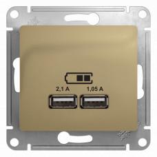 Glossa Титан USB Розетка, 5В/2100мА, 2х5В/1050мА, механизм | GSL000433 | Schneider Electric