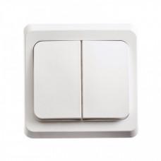 ЭТЮД С/У Белый Выключатель 2-клавишный с подсветкой | BC10-006B | Schneider Electric