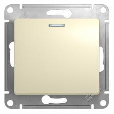 Glossa Бежевый Переключатель 1-клавишный с подсветкой, сх.6а, 10АХ | GSL000263 | Schneider Electric