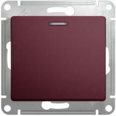 Glossa Баклажановый Выключатель 1-клавишный с подсветкой, сх.1а, 10AX | GSL001113 | Schneider Electric