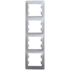 Glossa Перламутр Рамка 4-ая, вертикальная | GSL000608 | Schneider Electric