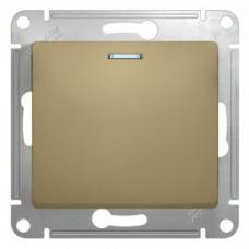 Glossa Титан Выключатель 1-клавишный с подсветкой, сх.1а, 10АХ | GSL000413 | Schneider Electric